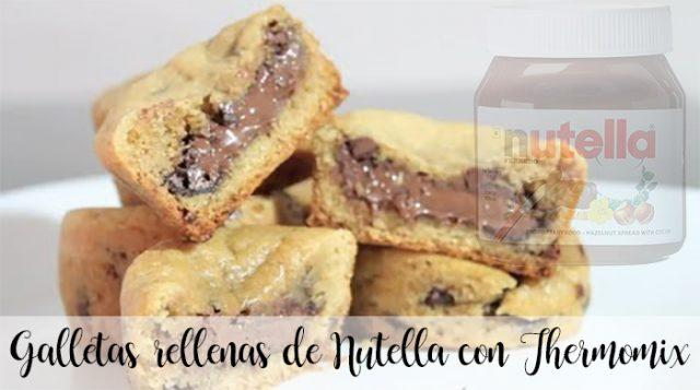 Galletas rellenas de Nutella con Thermomix