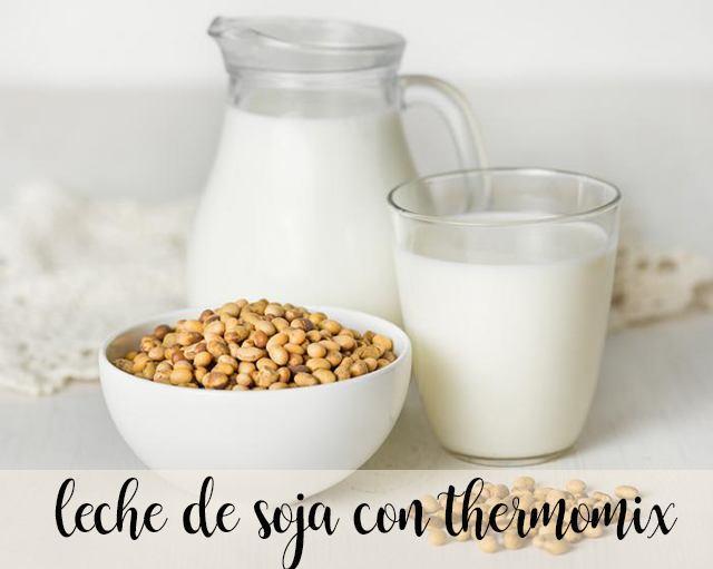leche de soja con thermomix