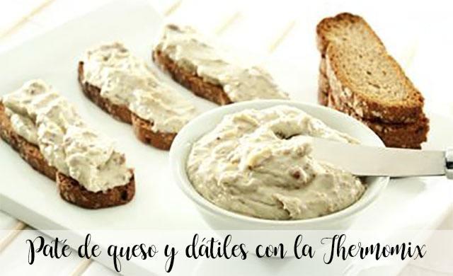 Paté de queso y dátiles con la Thermomix