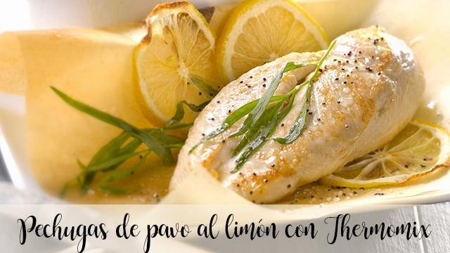 Pechugas de pavo al limón con Thermomix