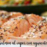 Salmon al vapor con aguacate con thermomix