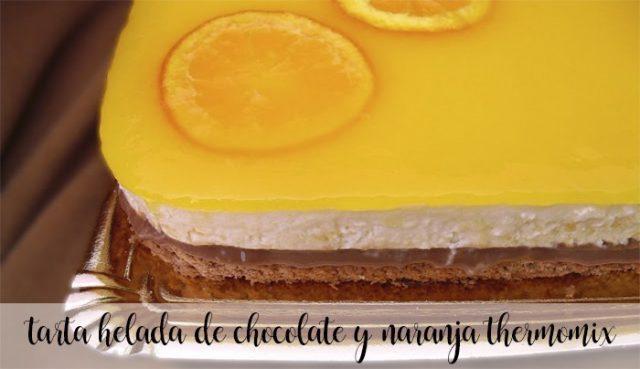 tarta helada de chocolate y naranja con thermomix