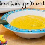 Papilla de verduras y pollo con thermomix