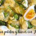 Brócoli con patatas y huevos con Thermomix
