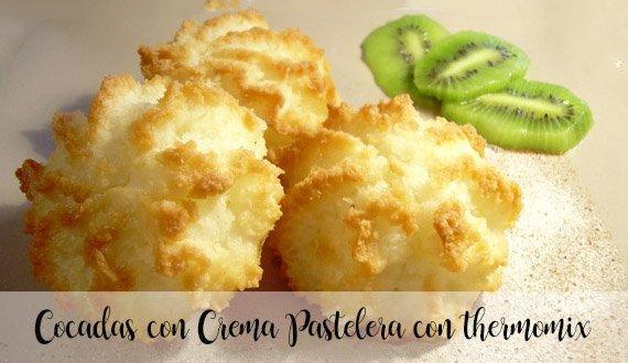Cocadas con Crema Pastelera con thermomix
