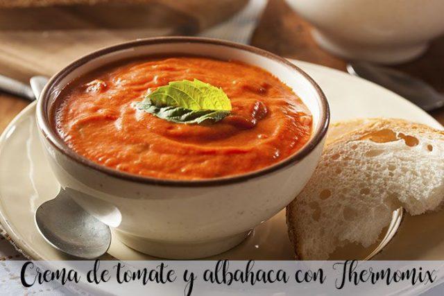 Crema de tomate y albahaca con Thermomix
