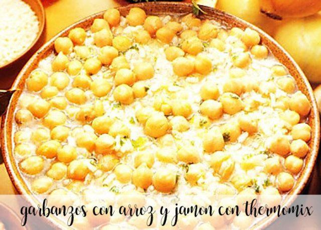 Garbanzos con arroz y jamón con thermomix