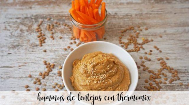 Hummus de lentejas con thermomix
