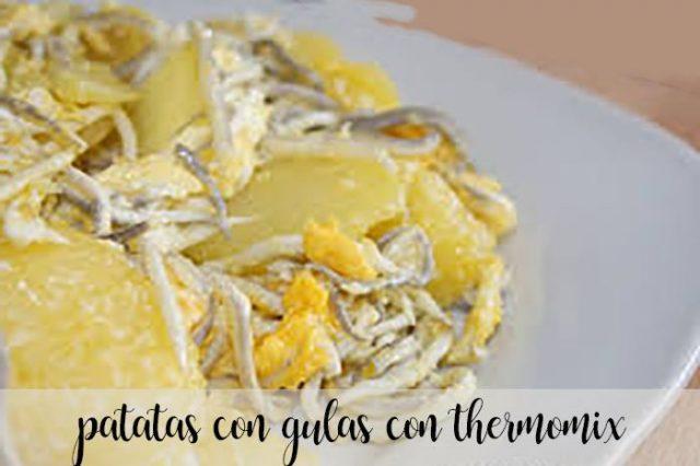 Patatas con gulas con Thermomix
