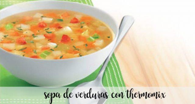 Sopa de verduras con Thermomix