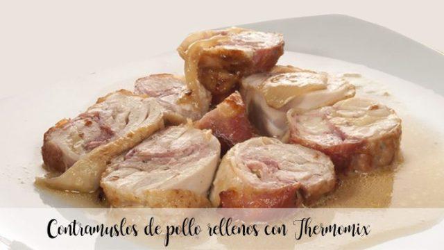 Contramuslos de pollo rellenos con Thermomix