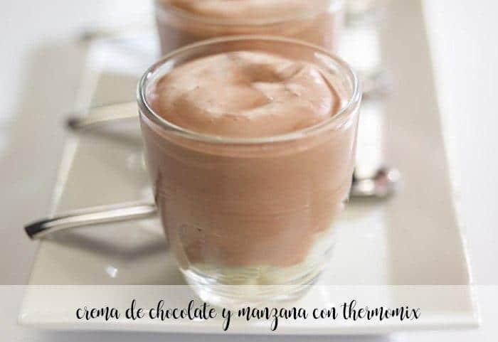 Crema de chocolate y manzana con thermomix
