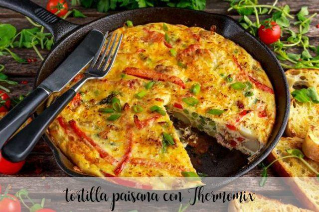 tortilla paisana con Thermomix