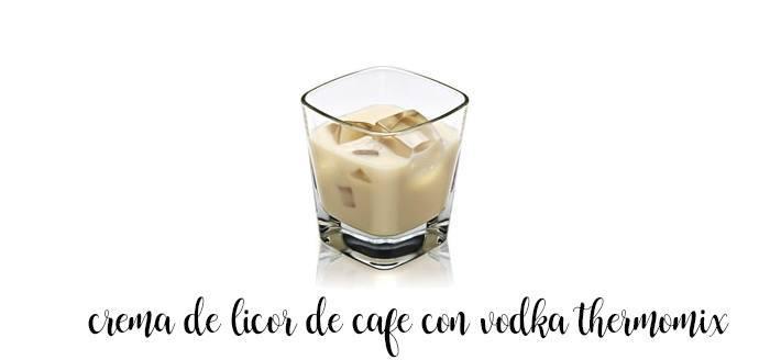 Licor de café con vodka con Thermomix