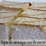 Milhojas de merengue con Thermomix
