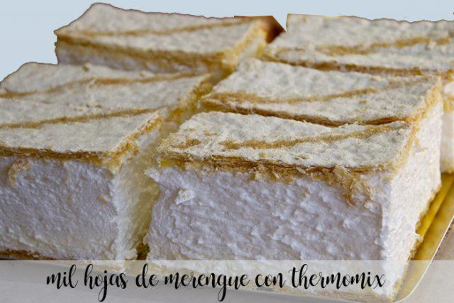 Milhojas de merengue con Thermomix