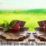 Milhojas de chocolate con mousse de turrón con thermomix