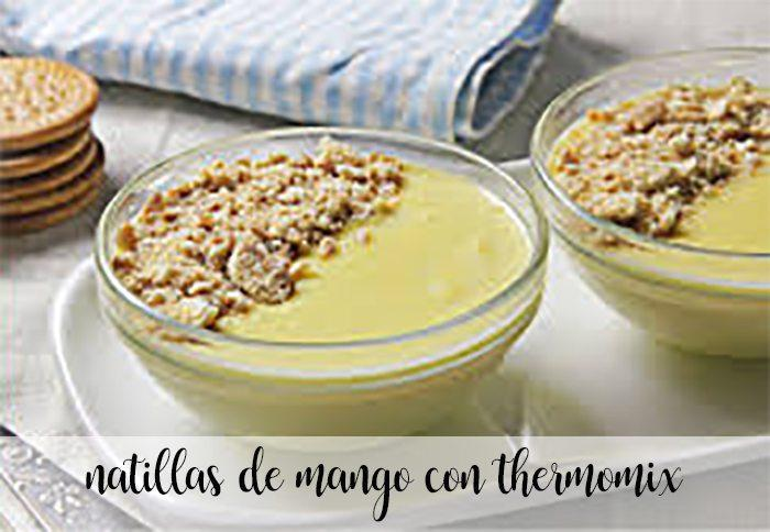 Natillas de mango con Thermomix