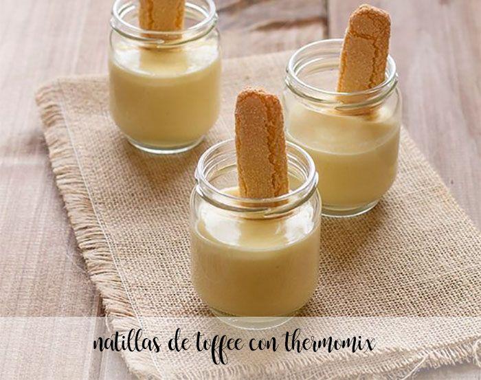 Natillas de toffee con thermomix