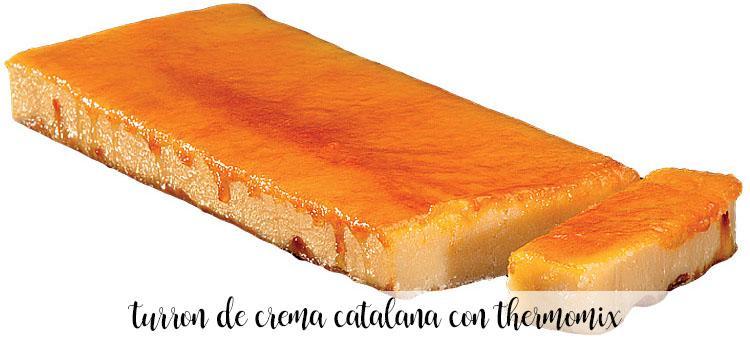 Turrón de crema catalana con thermomix