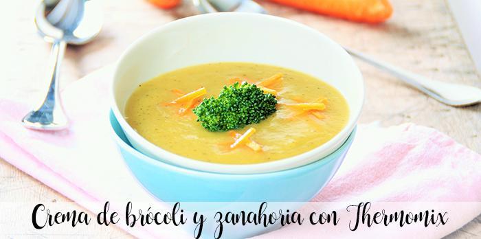 Crema de brócoli y zanahoria con Thermomix