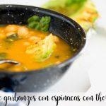 Sopa de garbanzos con espinacas con Thermomix