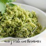 Arroz verde con Thermomix