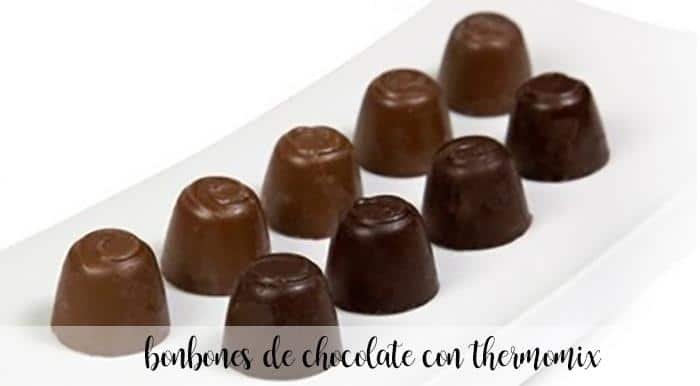 Bombones de chocolate con Thermomix
