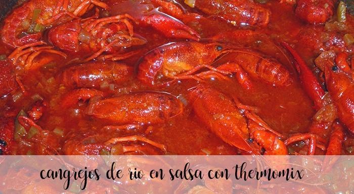 Cangrejos de río en salsa con thermomix
