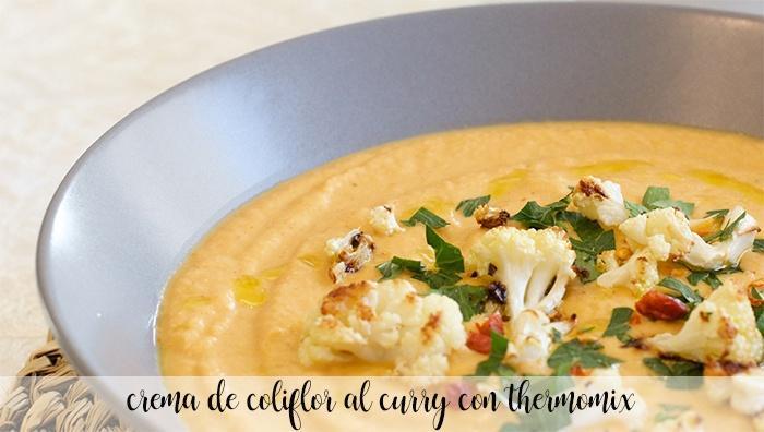 Crema de coliflor al curry con Thermomix