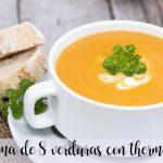 Crema de ocho verduras con thermomix