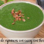 Crema de espinacas al curry con thermomix