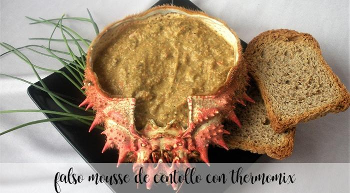 Falso mousse de centollo con Thermomix