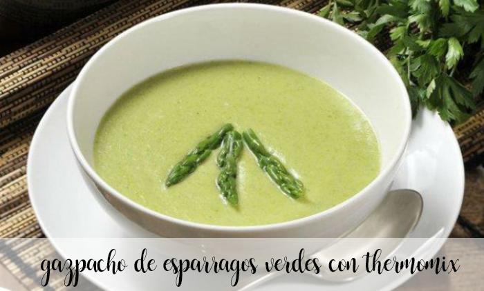 Gazpacho de esparragos verdes con thermomix
