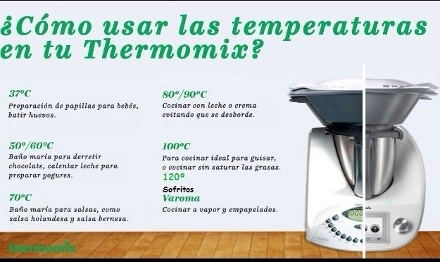 temperaturas en thermomix