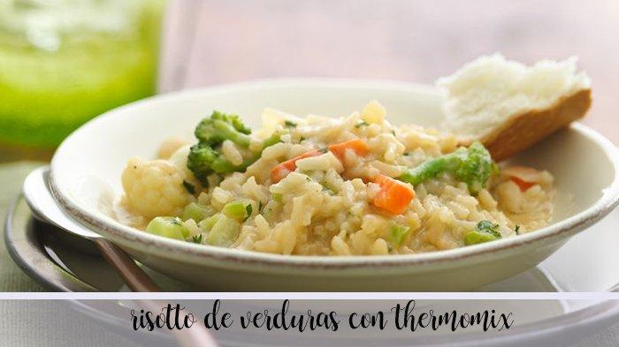 Risotto de verduras con Thermomix