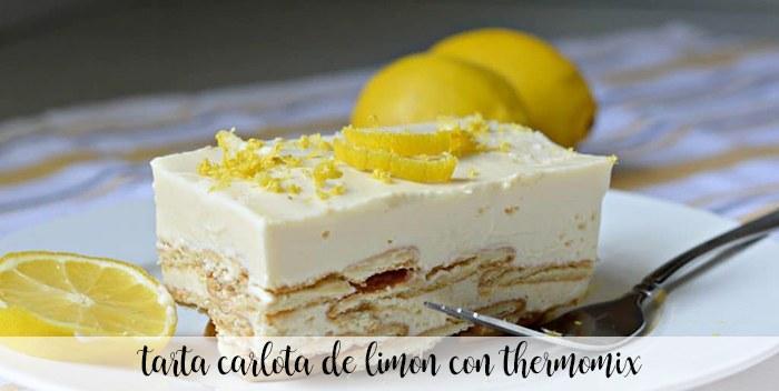 Tarta Carlota de limón con Thermomix