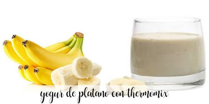 yogur de platano con thermomix