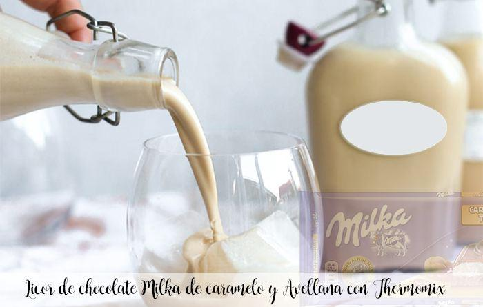 Licor de chocolate Milka de caramelo y Avellana con Thermomix