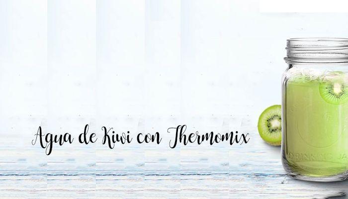 Agua de Kiwi con Thermomix