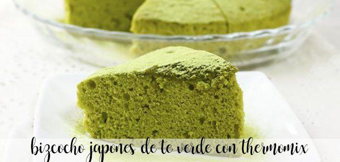 Bizcocho japonés de té verde con Thermomix