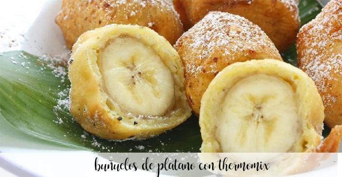 Buñuelos de plátano con Thermomix
