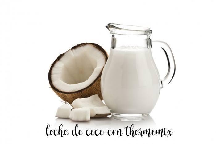 Leche de coco con thermomix