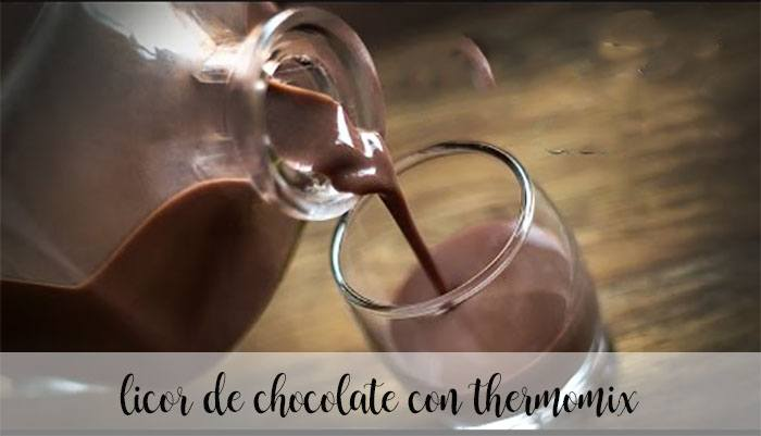 Licor de chocolate con thermomix