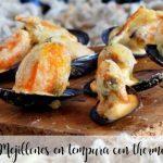 Mejillones en tempura con Thermomix