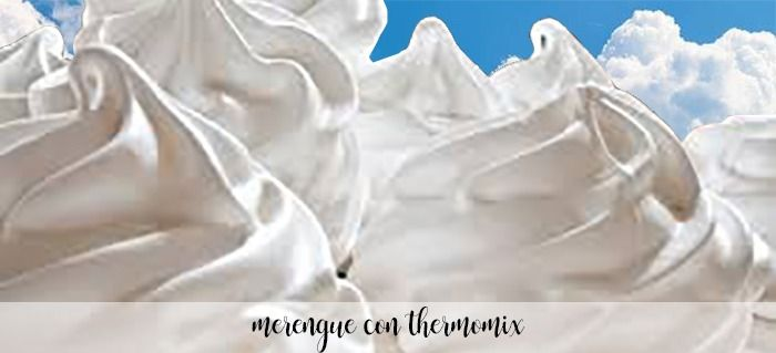 Merengue con Thermomix