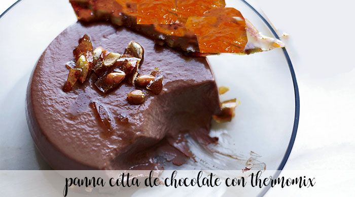 Panna Cotta de chocolate con Thermomix