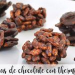 rocas de chocolate con thermomix