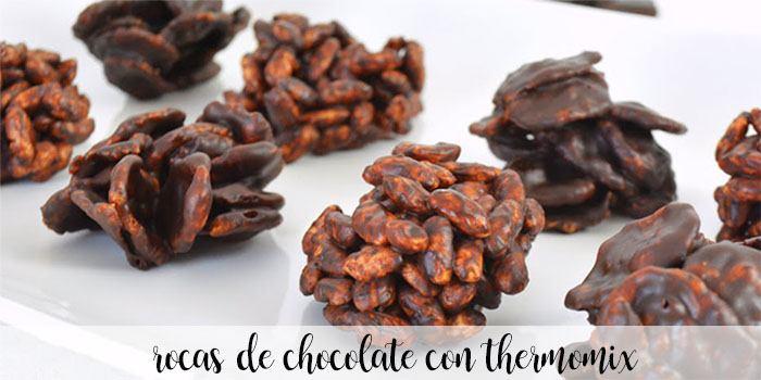rocas de chocolate con thermomix