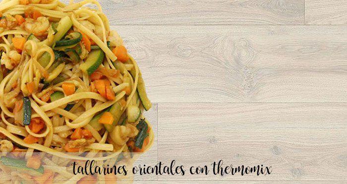 Tallarines orientales con Thermomix